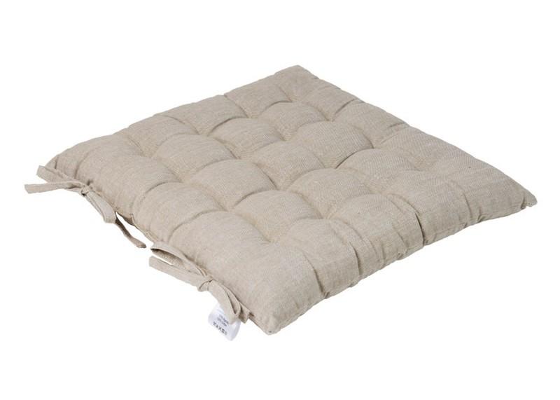 Galette de Chaise beige- 100% coton — Coussins de jardin
